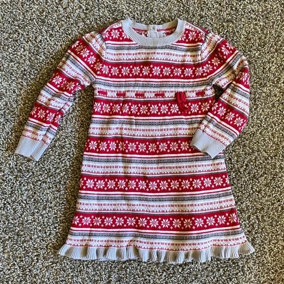 Girls 18-24m Gymboree Christmas Sweater Dress